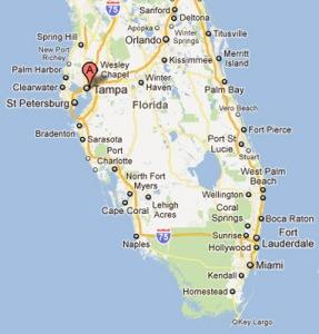 Tampa-Florida-Map