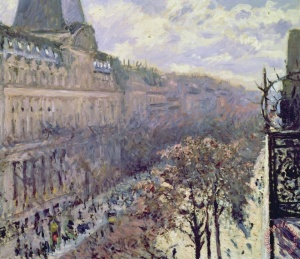 Boulevard Des Italiens Painting by Gustave Caillebotte; Boulevard Des Italiens Art Print for sale