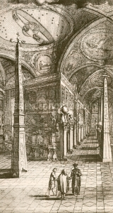 Kircher's museum in Rome. 17th-century artwork of German Jesuit scholar Athanasius Kircher (circa 1601-1680, at right) showing visitors around the museum of curiosities he established in Rome. Kircher published in numerous different areas, including oriental studies, geology and medicine. His wide knowledge has led to him being described as 'the last Renaissance man'. The museum included Egyptian obelisks, animal specimens, celestial artworks, fountains, magic lanterns, talking statues, and optical and musical instruments. This artwork is a copy of an engraving from a 1678 catalogue of the museum by Giorgio de Sepibus.