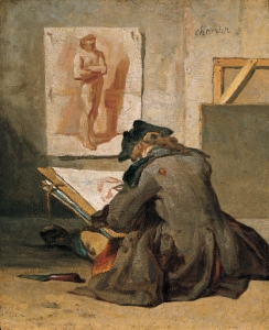 'Young_Student_Drawing',_oil_on_panel_by_Jean_Siméon_Chardin,_c._1738,_Kimbell_Art_Museum