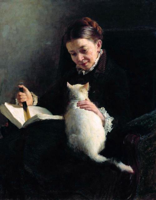 portraitofLadywithCatYaroshenkoNicholasAleksandrovich1846to1898