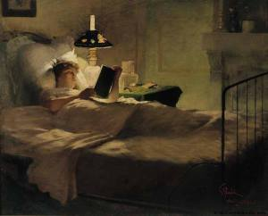 girlreadingatnight