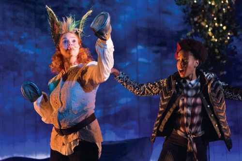 Holly-Twyford-as-Bottom-and-Monique-Robinson-as-Snout-in-Midsummer-by-Teresa-Wood