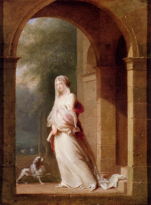 a_young_woman_standing_in_an_archway-largemallett